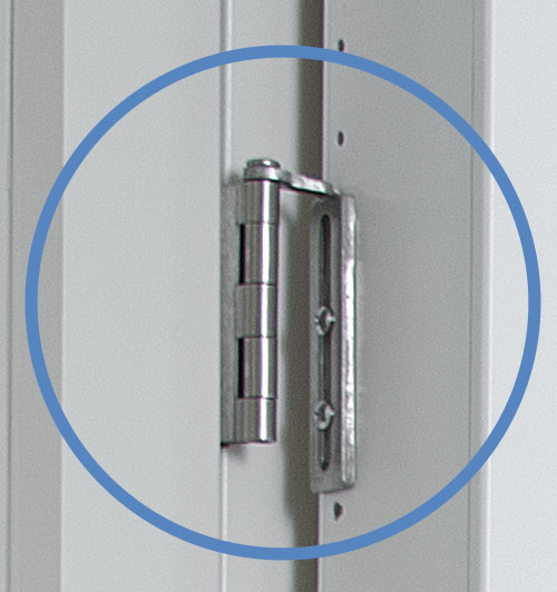 The Cabidor's Patented Hingend is non-destructive.